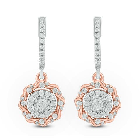 Cali Trove,1/2 Cttw Diamond Fashion Earrings In 10Kt White Rose Gold