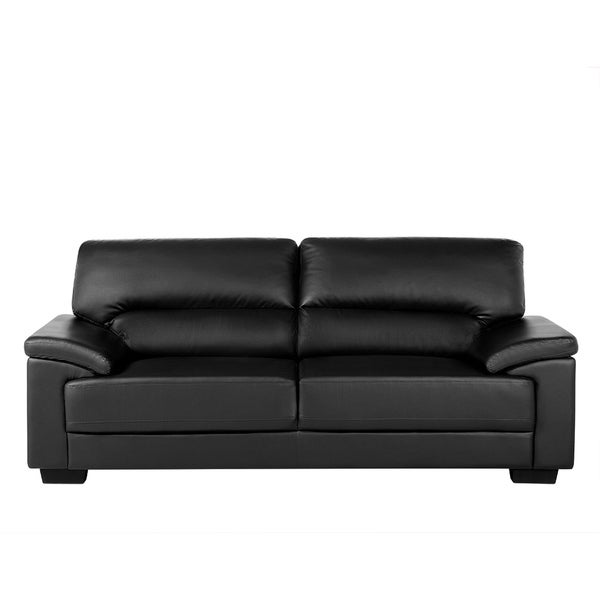 Shop 3 Seater Sofa Faux Leather VOGAR - On Sale - Free Shipping ...