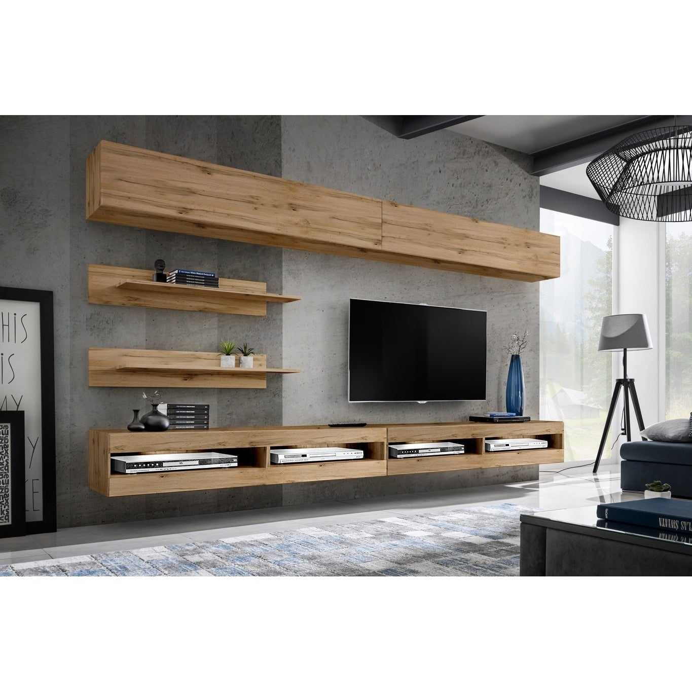 Fly I1 34tv Wall Mounted Floating Modern Entertainment Center