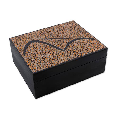 Orange Sugarloaf Mountain Wood tea box (6x5 inch)