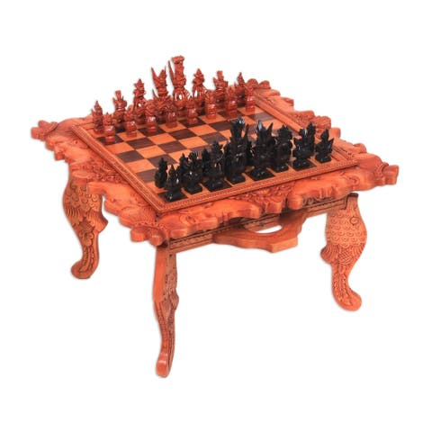 Handmade Kingdom Wars Wood chess set (Indonesia)