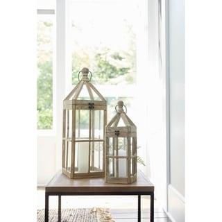 """Lantern (Set of 2) 19""""H, 27""""H - Small 6.5L x 6.5W x 19H 3.15lbs"""