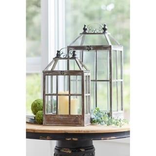 """Lantern (Set of 2) 22.5""""H, 31.5""""H - Small 12L x 7.5W x 22.8H 7lbs"""