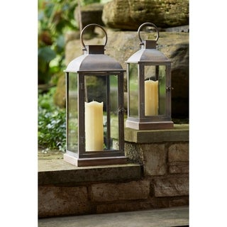 "Lantern (Set of 2) 15.5""H, 19.75""H - Small 6.75L x 6.75W x 15.5H 3.55lbs"