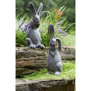 Imitative Figurine (Set of 2) - 1 Ear Up Rabbit 5.5L x 6.25W x 16.25H 4.04lbs