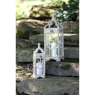"""Lantern (Set of 2) 19.5""""H, 28""""H - Small 7L x 7W x 19.5H 3.35lbs"""