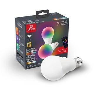 Wi-Fi Smart RGB Tunable Frosted LED Light Bulb, No Hub Required,2-Pk - A19