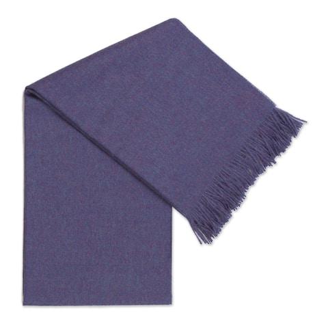 Handmade Blissful Dream in Blue-Violet 100% baby alpaca throw (Peru)