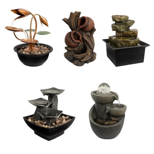 Tabletop Water Fountain 3 Tier Raku Bowl By Pure Garden Overstock 28271922