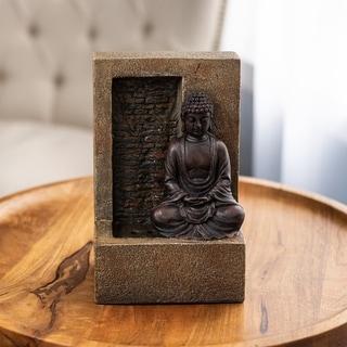 Carbon Loft Tabletop Water Fountain Sitting Buddha