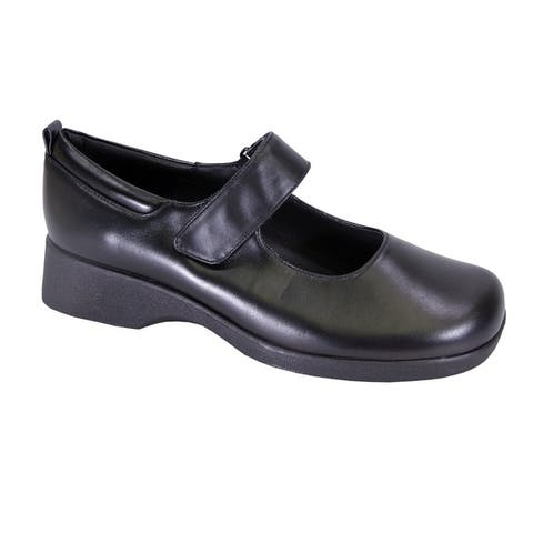 24 HOUR COMFORT Sky Women Extra Wide Width Leather Mary Jane Shoes