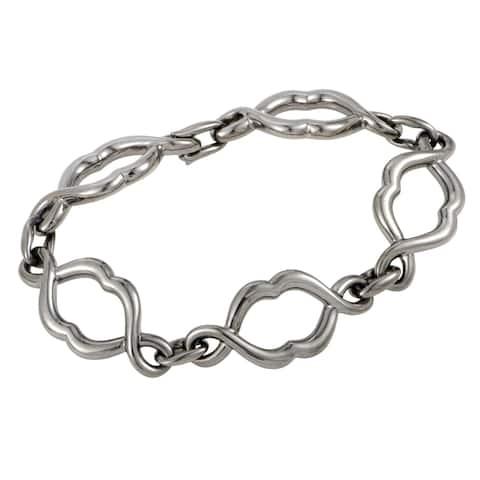 Stephen Webster Les Dents De La Mer Jaws Silver and Black Rhodium Jaw Link Bracelet