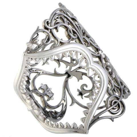 Stephen Webster Les Dents De La Mer Jaws Silver and Black Rhodium Large Jaws Cuff Bracelet