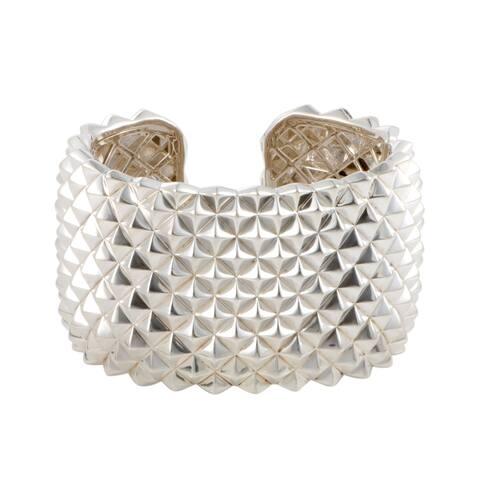 Stephen Webster Superstud Silver Wide Open Cuff Bracelet