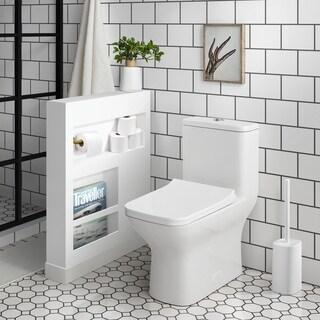 Carre One Piece Elongated Toilet Dual Flush 0.8/1.28 gpf