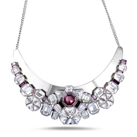 Swarovski Diana Clear and Pink Crystal Necklace