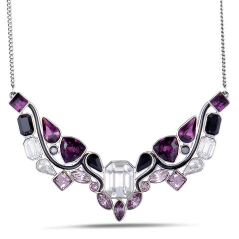 Swarovski Impulse Multicolor Crystal Rhodium Plated Necklace