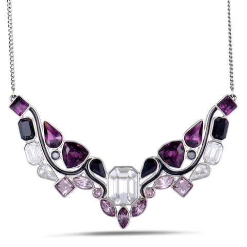 Swarovski Impulse Multicolor Crystal Rhodium Plated Necklace