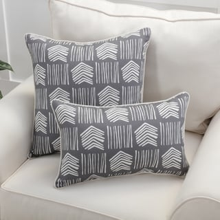 Pillow Perfect Whythe Graphite Throw Pillow
