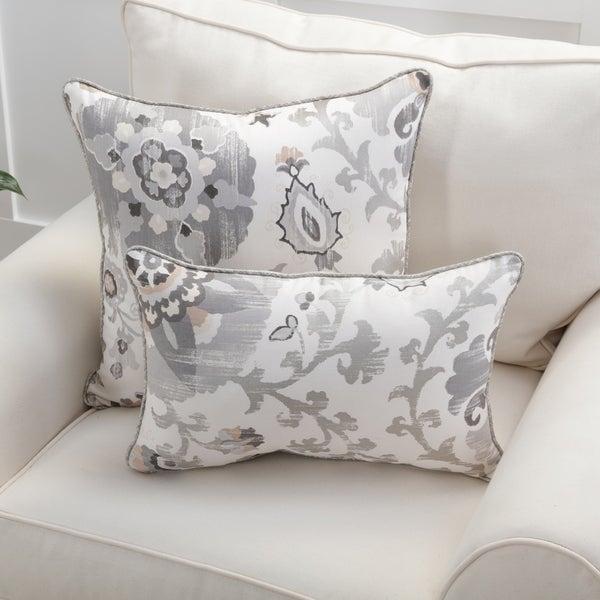 Pillow Perfect Bountiful Thunder Throw Pillow