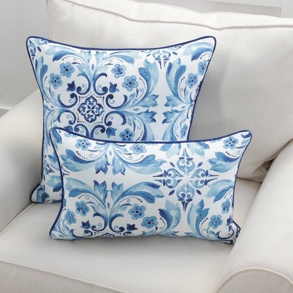 Pillow Perfect Fresco Delft Throw Pillow