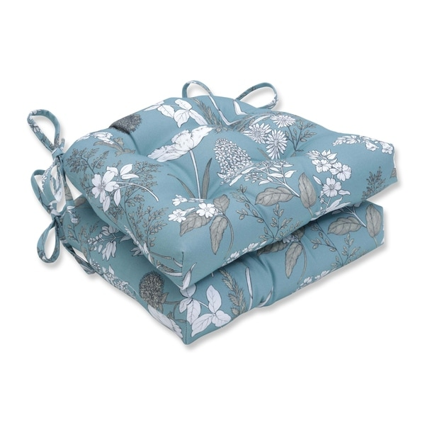 Pillow Perfect Dixie Seafoam Reversible Chair Pad (Set of 2)