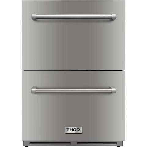 "Thor Kitchen - 24"" Indoor/Outdoor Under-Counter Refrigerator Drawer"