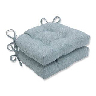 Pillow Perfect Speedy Lagoon Reversible Chair Pad (Set of 2)