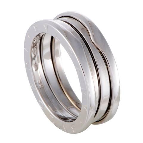 Bvlgari B.Zero1 Womens White Gold 3 - Band Ring Size - 6.5