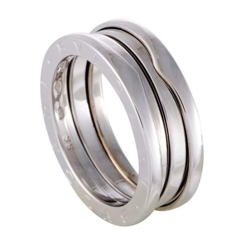 Bvlgari B.Zero1 Womens White Gold 3 - Band Ring Size - 5.5