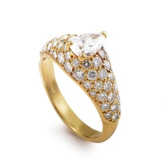 Cartier Yellow Gold Diamond Engagement Ring Size - 5.25