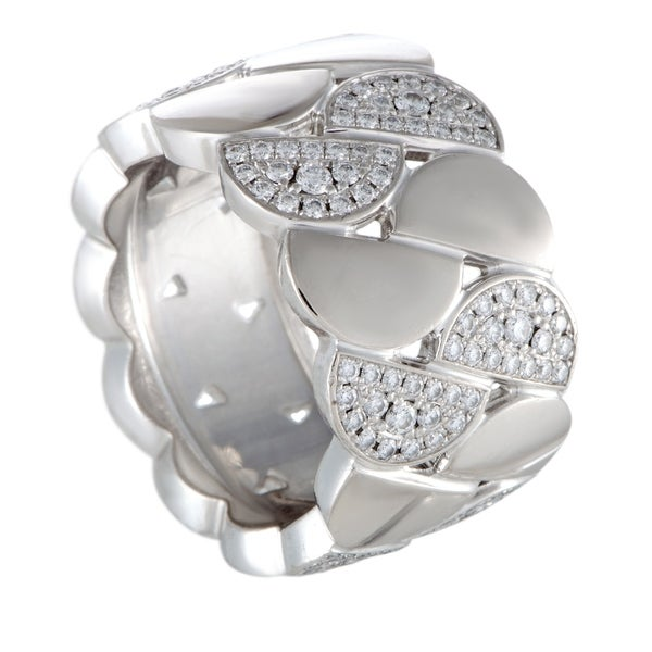 Cartier La Dona White Gold Diamond Wide Band Ring