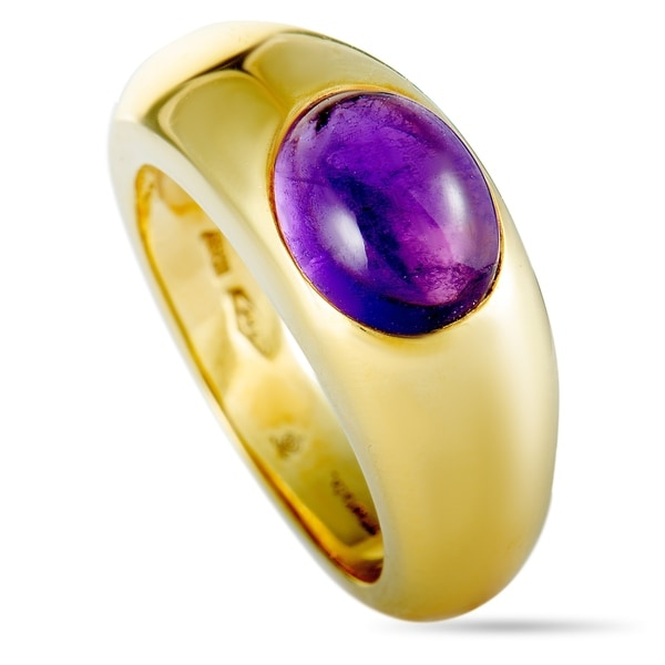 b18fd0a0a Shop Tiffany & Co. Yellow Gold Amethyst Band Ring - On Sale - Free ...