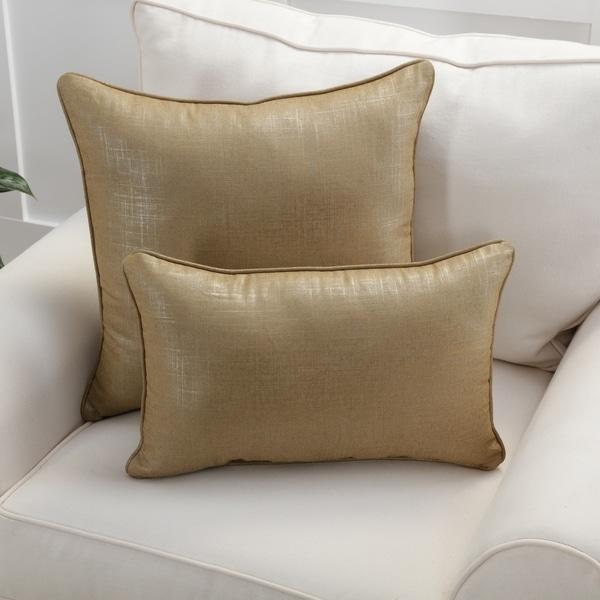 Pillow Perfect Alchemy Linen Copper Throw Pillow