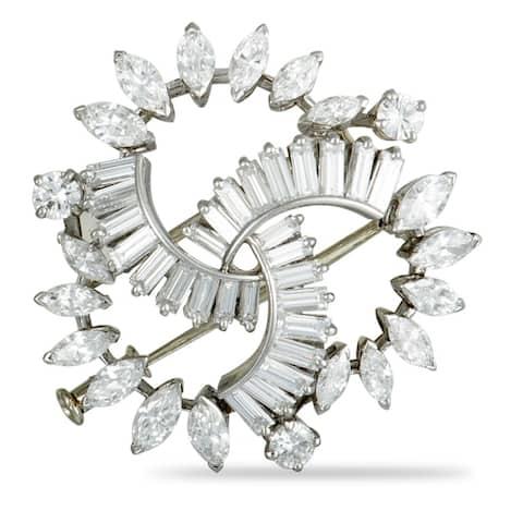 Boucheron Vintage Platinum Diamond Brooch