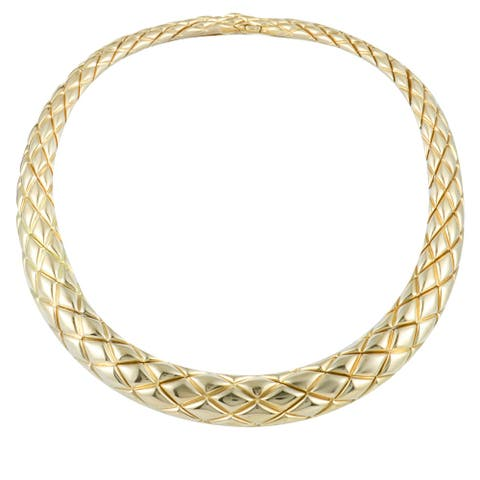 Chaumet Yellow Gold Collar Necklace