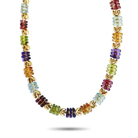 Bvlgari Yellow Gold Multi Gemstone Collar Necklace