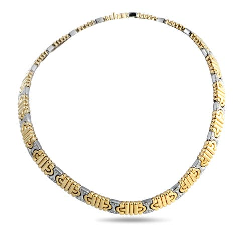 Bvlgari Parentesi Yellow and White Gold Diamond Choker Necklace
