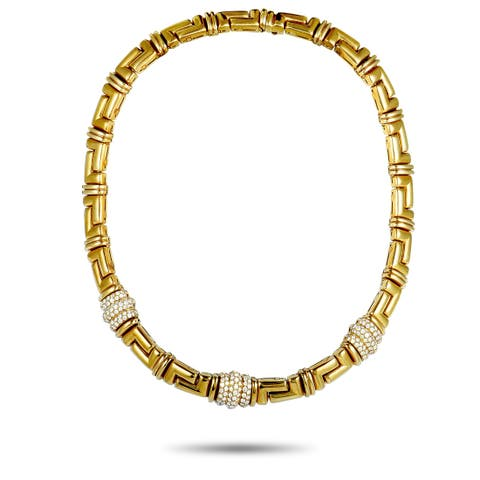 Bvlgari Yellow Gold Diamond Collar Necklace