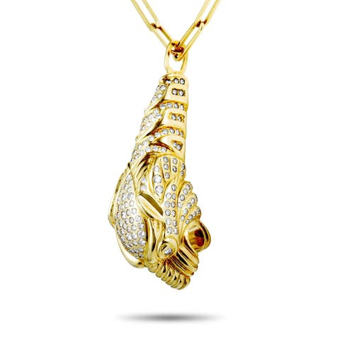 Gucci Yellow Gold Diamond Panther Pendant Necklace