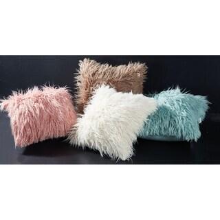 Decorative Mongolia Style FauxFur Throw Pillow W/ Insert 18x18