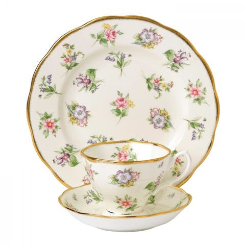 100 Years of Royal Albert Spring Meadow 3-piece Place Setting