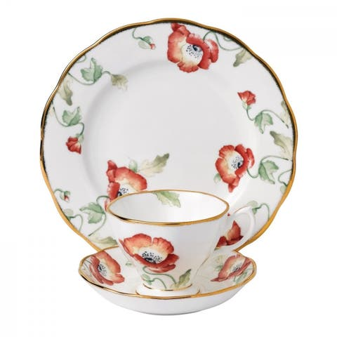 100 Years of Royal Albert Poppy 3-piece Place Setting