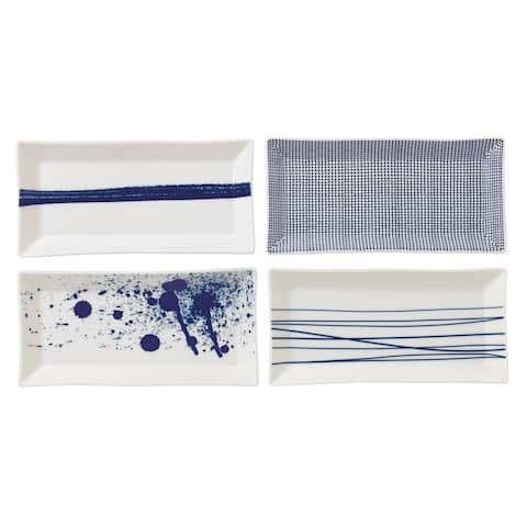 Pacific Mixed Patterns 9.4-inch Rectangular Dish, Set of 4