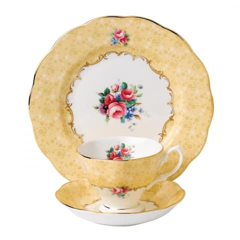 100 Years of Royal Albert Bouquet 3-piece Place Setting