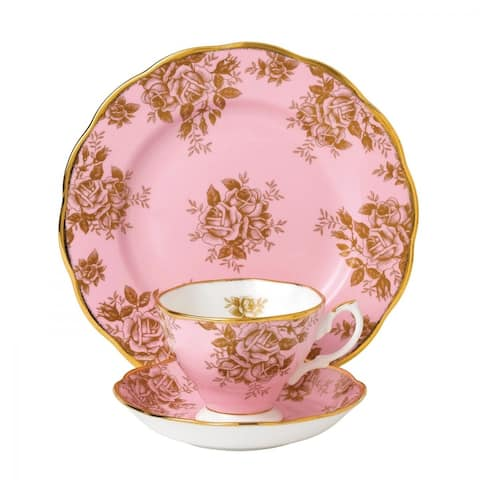 100 Years of Royal Albert Golden Rose 3-piece Place Setting
