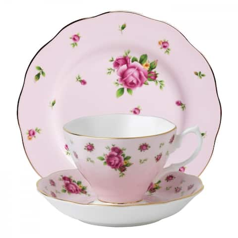 New Country Roses Pink 3-piece Place Setting