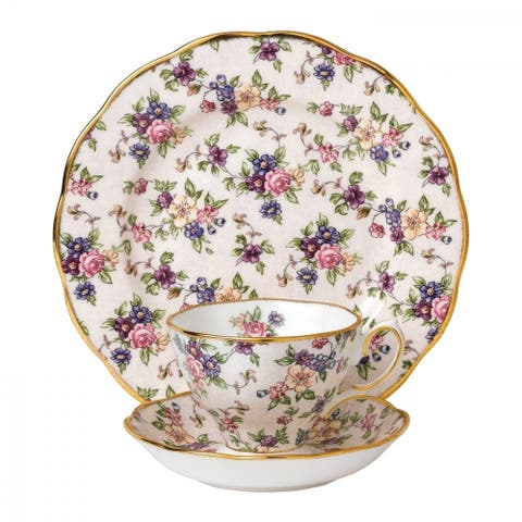 100 Years of Royal Albert English Chintz 3-piece Place Setting