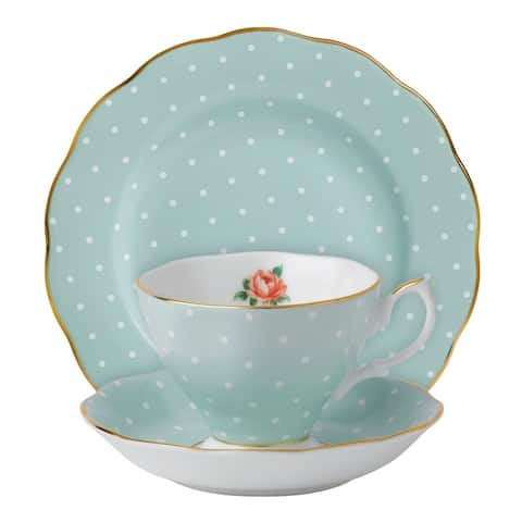 Polka Rose 3-piece Place Setting