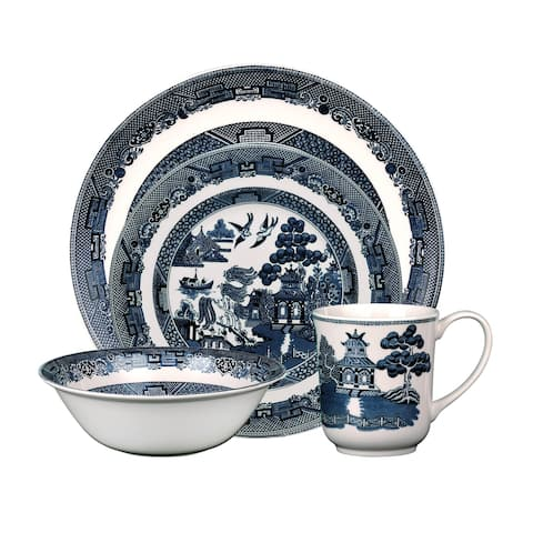 Willow Blue 4-Piece Place Setting